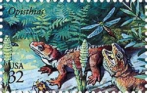 1997 32c Dinosaurs: Opisthias