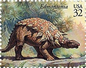 1997 32c Dinosaurs: Edmontonia