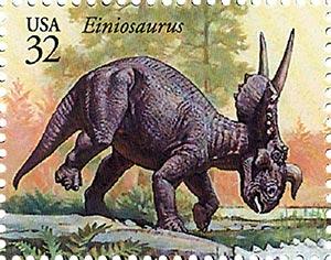 1997 32c Dinosaurs: Einiosaurus