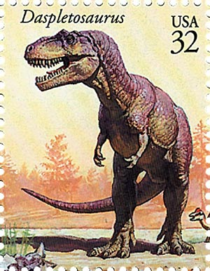 1997 32c Dinosaurs: Daspletosaurus