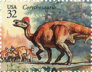 1997 32c Dinosaurs: Corythosaurus
