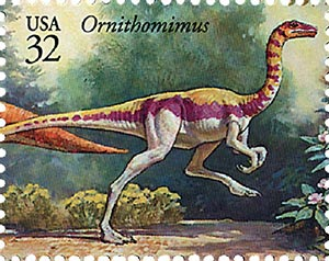 1997 32c Dinosaurs: Ornithomimus