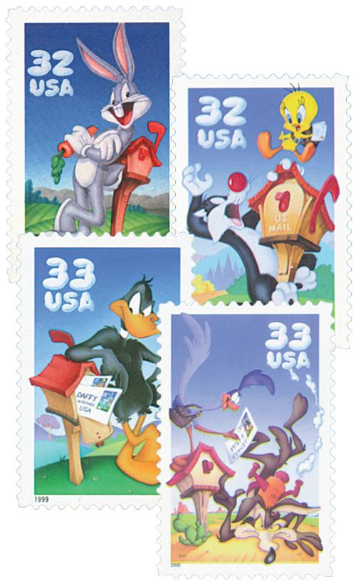 1997-2000 Looney Tunes Stamps, set 4