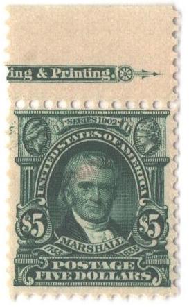 1902 $5 dk green