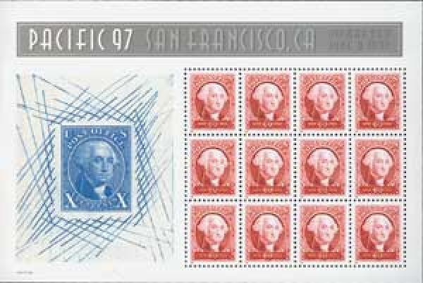1997 60c George Washington, sheet of 12