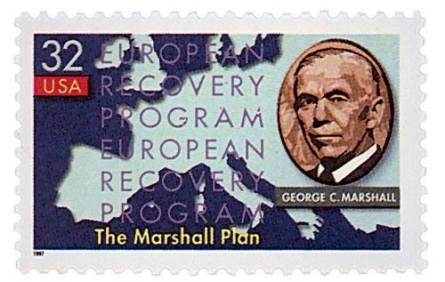 1997 32c Marshall Plan