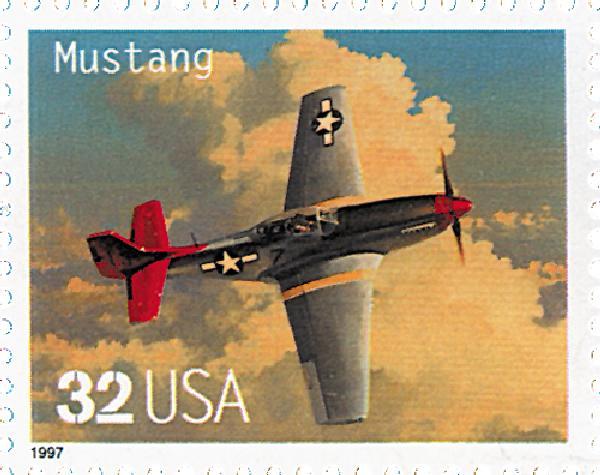 1997 32c Classic American Aircraft: Mustang