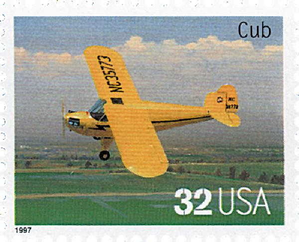 1997 32c Classic American Aircraft: Cub