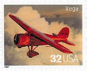 1997 32c Classic American Aircraft: Vega