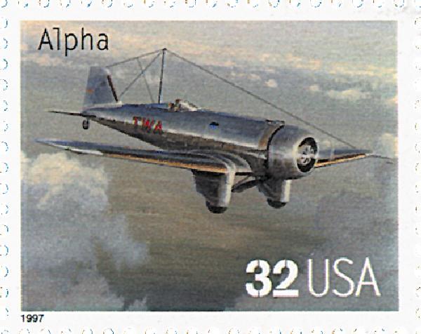 1997 32c Classic American Aircraft: Alpha