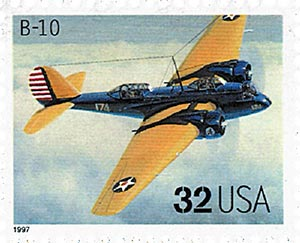 1997 32c Classic American Aircraft: B-10