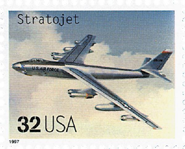 1997 32c Classic American Aircraft: Stratojet