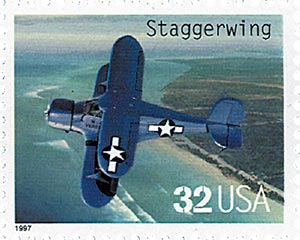 1997 32c Classic American Aircraft: Staggerwing