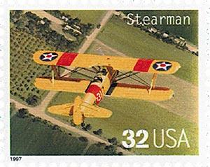 1997 32c Classic American Aircraft: Stearman