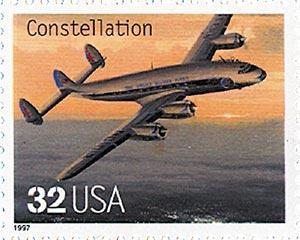 1997 32c Classic American Aircraft: Constellation