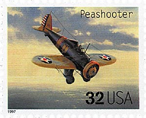 1997 32c Classic American Aircraft: Peashooter