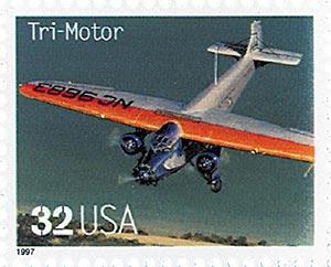 1997 32c Classic American Aircraft: Tri-Motor