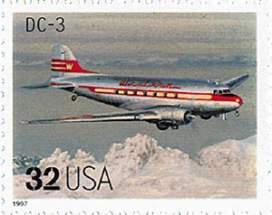 1997 32c Classic American Aircraft: DC-3