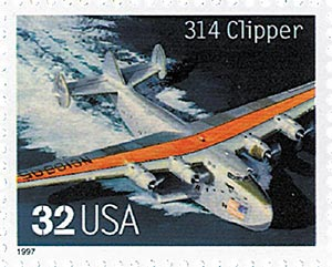 1997 32c Classic American Aircraft: 314 Clipper
