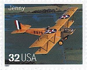 1997 32c Classic American Aircraft: Jenny