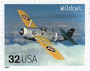 1997 32c Classic American Aircraft: Wildcat