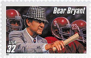 1997 32c Football Coaches: Bear Bryant