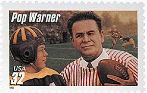 1997 32c Football Coaches: Pop Warner