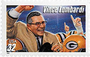 1997 32c Football Coaches: Vince Lombardi