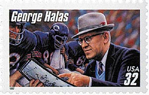 1997 32c Football Coaches: George Halas