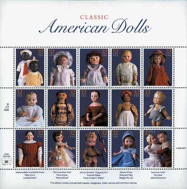 1997 32c Classic American Dolls