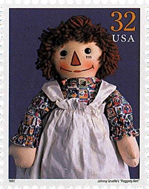 """1997 32c Classic American Dolls: Johnny Gruelles """"Raggedy Ann"""""""