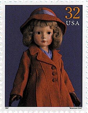 "1997 32c Classic American Dolls: ""American Child"""