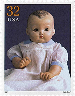"""1997 32c Classic American Dolls: """"Baby Coos"""""""