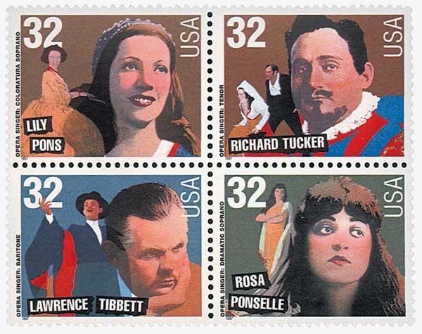 1997 32c Opera Singers