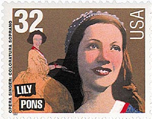 1997 32c Opera Singers: Lily Pons
