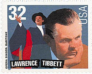 1997 32c Opera Singers: Lawrence Tibbett