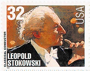 1997 32c Conductors and Composers: Leopold Stokowski, Conductor