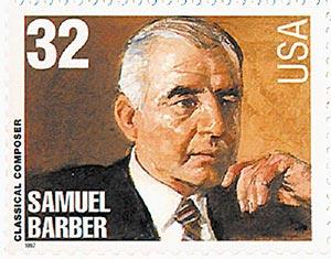 1997 32c Conductors and Composers: Samuel Barber, Composer