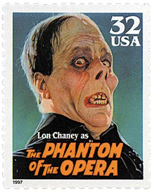 1997 32c Classic Movie Monsters: Lon Chaney as The Phantom of the Opera