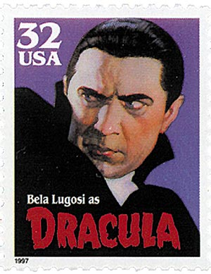 1997 32c Classic Movie Monsters: Bela Lugosi as Dracula