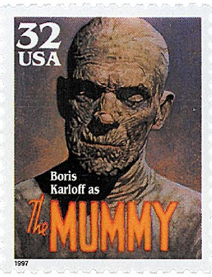 1997 32c Classic Movie Monsters: Boris Karloff as The Mummy