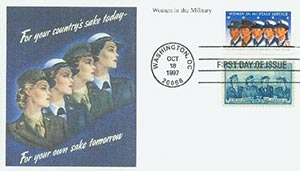 1997 32c Women in Military & 3c Armed S.