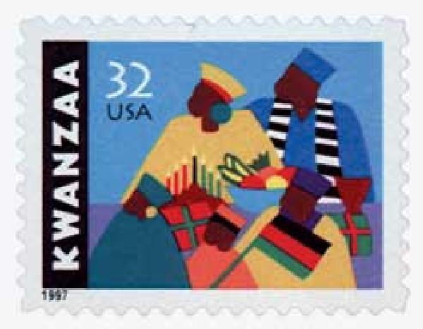 1997 32c Kwanzaa