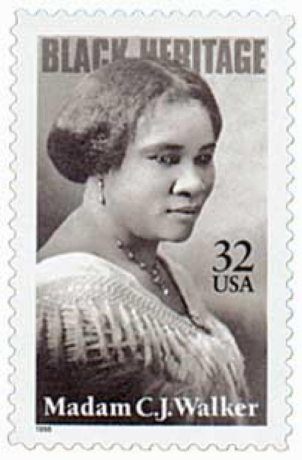 1998 32c Black Heritage: Madam C. J. Walker