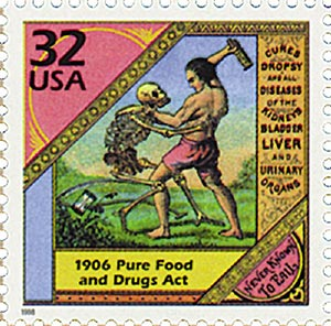 1998 32c Celebrate the Century - 1900s: Pure Food and Drug Act