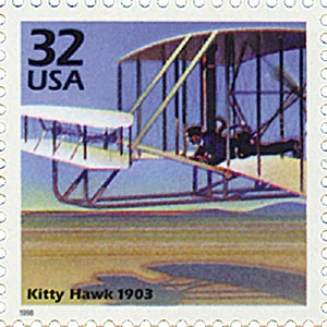 1998 32c Celebrate the Century - 1900s: Kitty Hawk