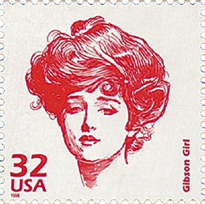 1998 32c Celebrate the Century - 1900s: Gibson Girl