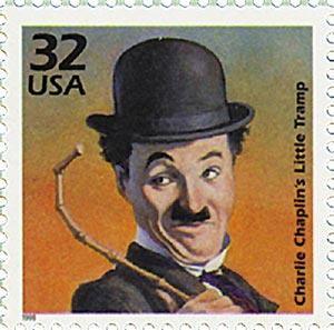 1998 32c Celebrate the Century - 1910s: Charlie Chaplin