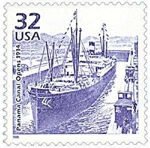 1998 32c Celebrate the Century - 1910s:  Panama Canal Opens