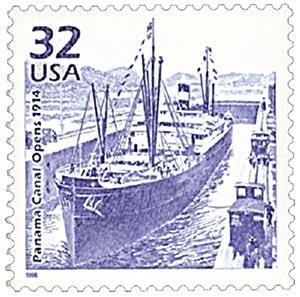 1998 32c Celebrate the Century - 1910s:  Panama Canal Opens